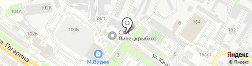 Детройд на карте Липецка