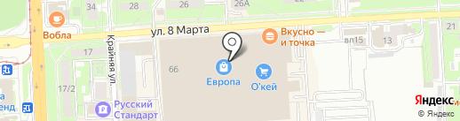 Счастливый взгляд на карте Липецка
