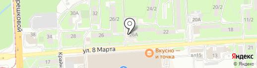 Наса на карте Липецка