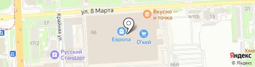 Билайн на карте Липецка