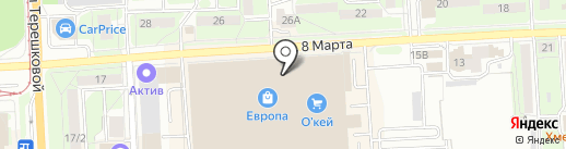 Детское такси по Европе на карте Липецка