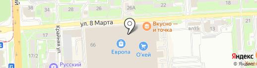 Паровозик на карте Липецка