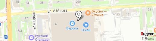 Легород на карте Липецка