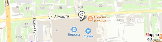 BK-race на карте Липецка