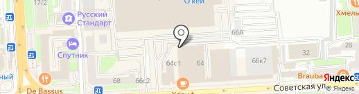 Бизнес-Ковчег на карте Липецка