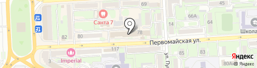Нина на карте Липецка
