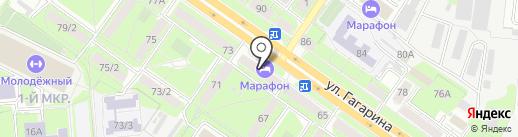 Марафон на карте Липецка