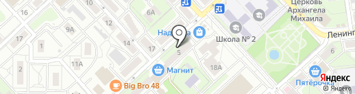 Непоседы на карте Липецка
