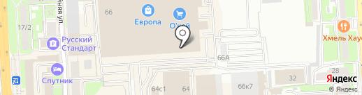 Westland на карте Липецка