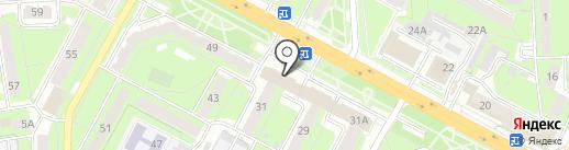 Шмель на карте Липецка
