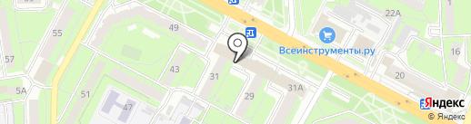 Стрелиция на карте Липецка
