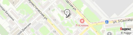 Барс на карте Липецка