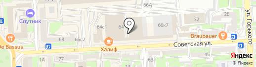 Литоп на карте Липецка