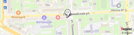 Русклининг на карте Липецка