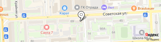 Грант на карте Липецка