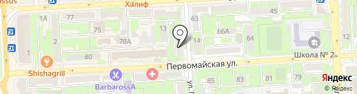 Сократ на карте Липецка