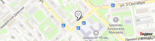 Хмельбург на карте Липецка