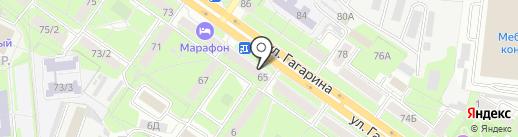 Магазин тканей и фурнитуры на карте Липецка