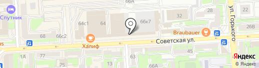КБ Еврокоммерц на карте Липецка