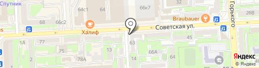 Липецкая городская детская стоматологическая поликлиника на карте Липецка