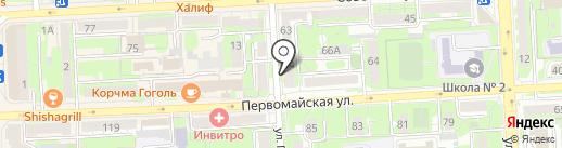 Риан на карте Липецка