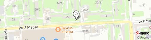 Киоск по изготовлению ключей на карте Липецка