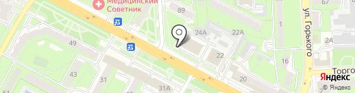 Жигули на карте Липецка