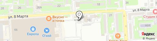 Липецкое станкостроительное предприятие на карте Липецка