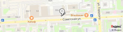 Центр по работе с населением Советского округа на карте Липецка
