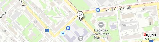 Степлер на карте Липецка