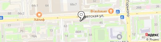 АТЛАНТ на карте Липецка