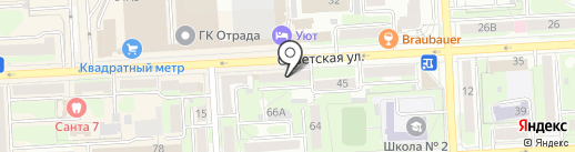 Магазин мебельной фурнитуры на карте Липецка