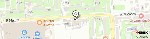 Элегия на карте Липецка