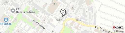 Glassность на карте Липецка