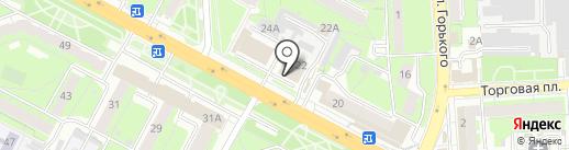 Липецкое банно-прачечное хозяйство, МУП на карте Липецка