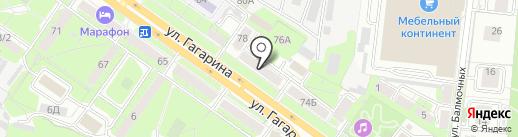 Нотариус Вахнева Е.Ю. на карте Липецка
