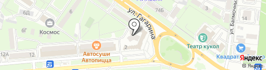 Служба заказа легкового транспорта на карте Липецка