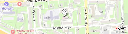 Управление Федеральной службы по надзору в сфере защиты прав потребителей и благополучия человека по Липецкой области на карте Липецка
