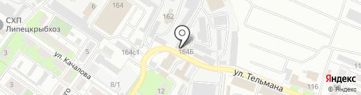 Транспорт48-Липецк на карте Липецка