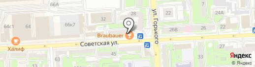 Бройбауэр на карте Липецка