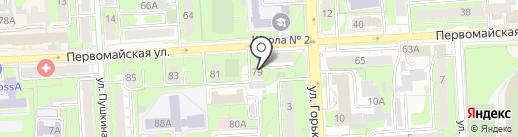Сакура на карте Липецка