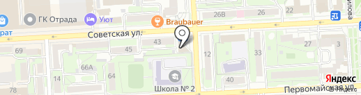 Силуэт на карте Липецка