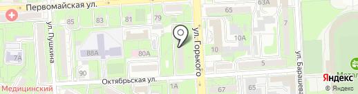 ЭРРА на карте Липецка