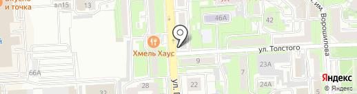 МАКС, ЗАО на карте Липецка