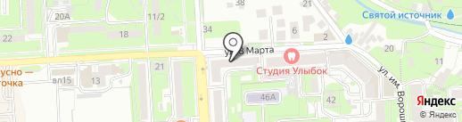 Школяр на карте Липецка