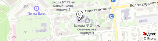 Средняя общеобразовательная школа №31 им. В.Я. Клименкова на карте Липецка
