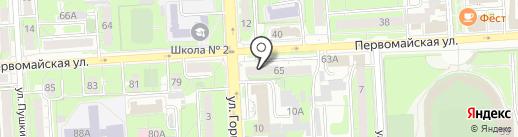 Калейдоскоп на карте Липецка