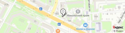 Липецкие окна на карте Липецка