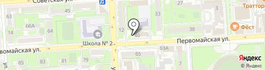 Студия макияжа Ольги Зудилиной на карте Липецка