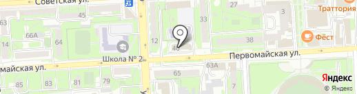 Центр аварийно-спасательных операций на карте Липецка
